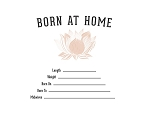 Welcome Lotus Birth Certificate