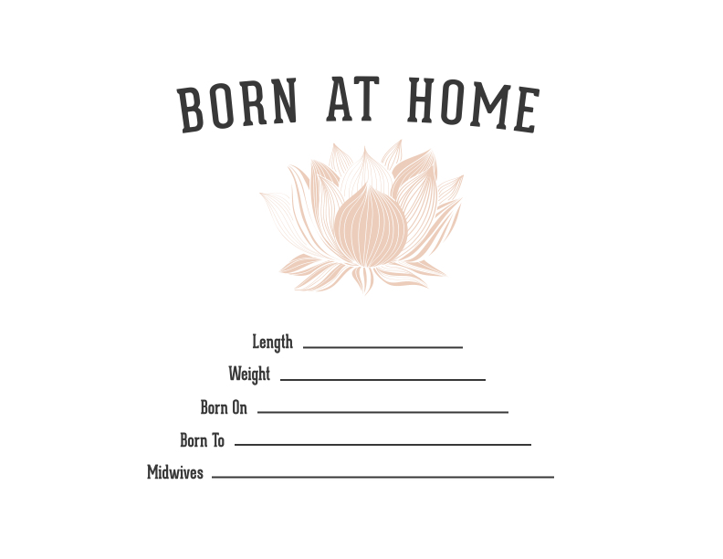 Lotus Print Birth Certificate