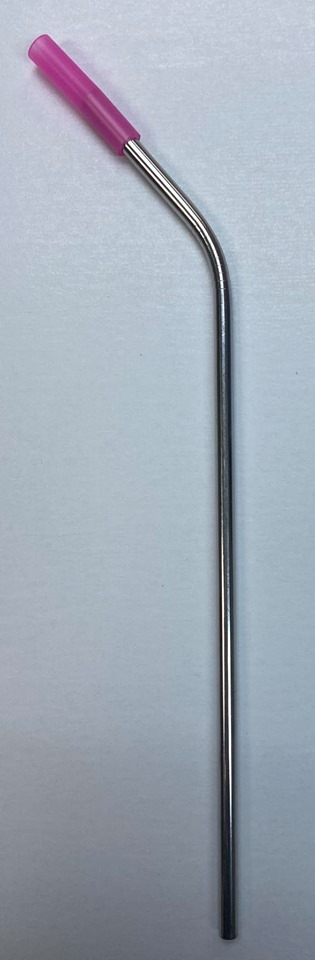 Re-Usable Metal Straw, bent 10.5