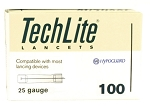 Lancet TechLite® Adjustable Depth Lancet Needle 2.8 to 3.1 mm Depth 25 Gauge, 100/box
